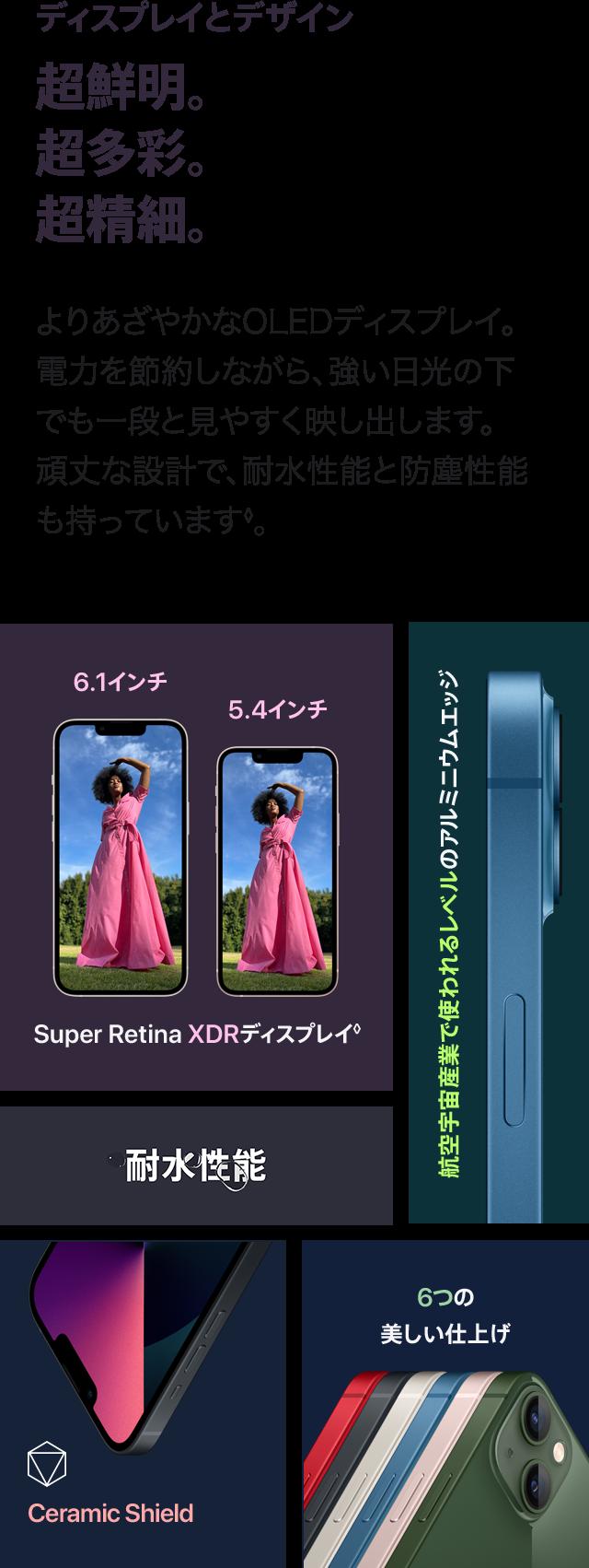 iphone13 ディスプレイとデザイン