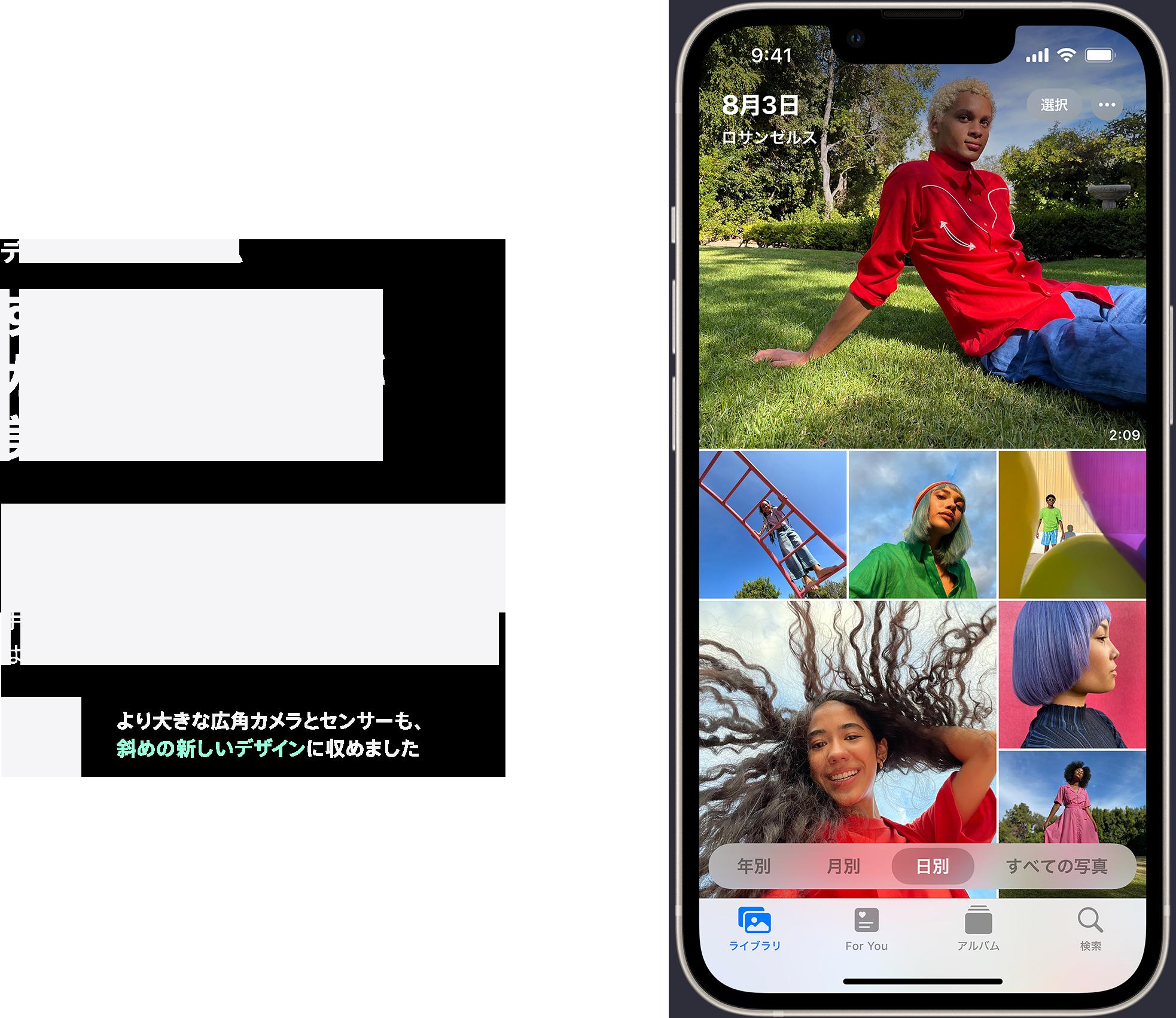 iphone13 デュアルカメラシステム