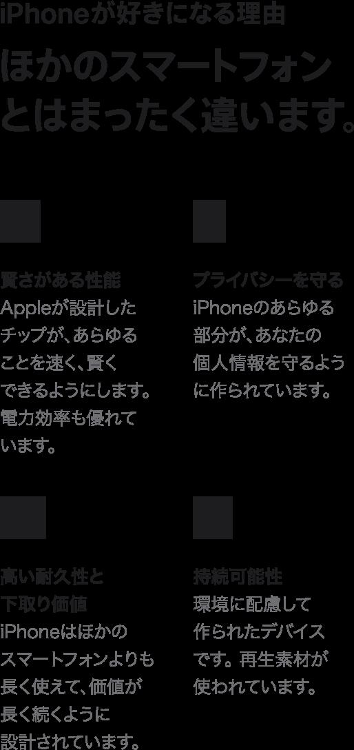 iphoneが好きになる理由