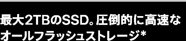 最大2TBのSSD。圧倒的に高速なオールフラッシュストレージ*
