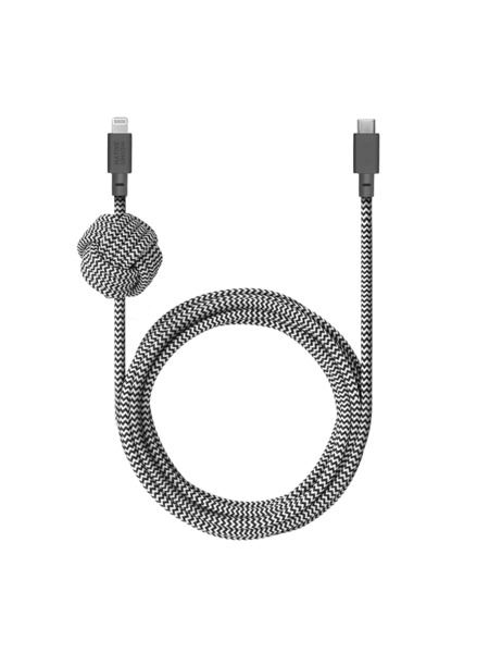 NIGHT CABLE (USB-C TO LIGHTNING) 詳細画像 ゼブラ 1